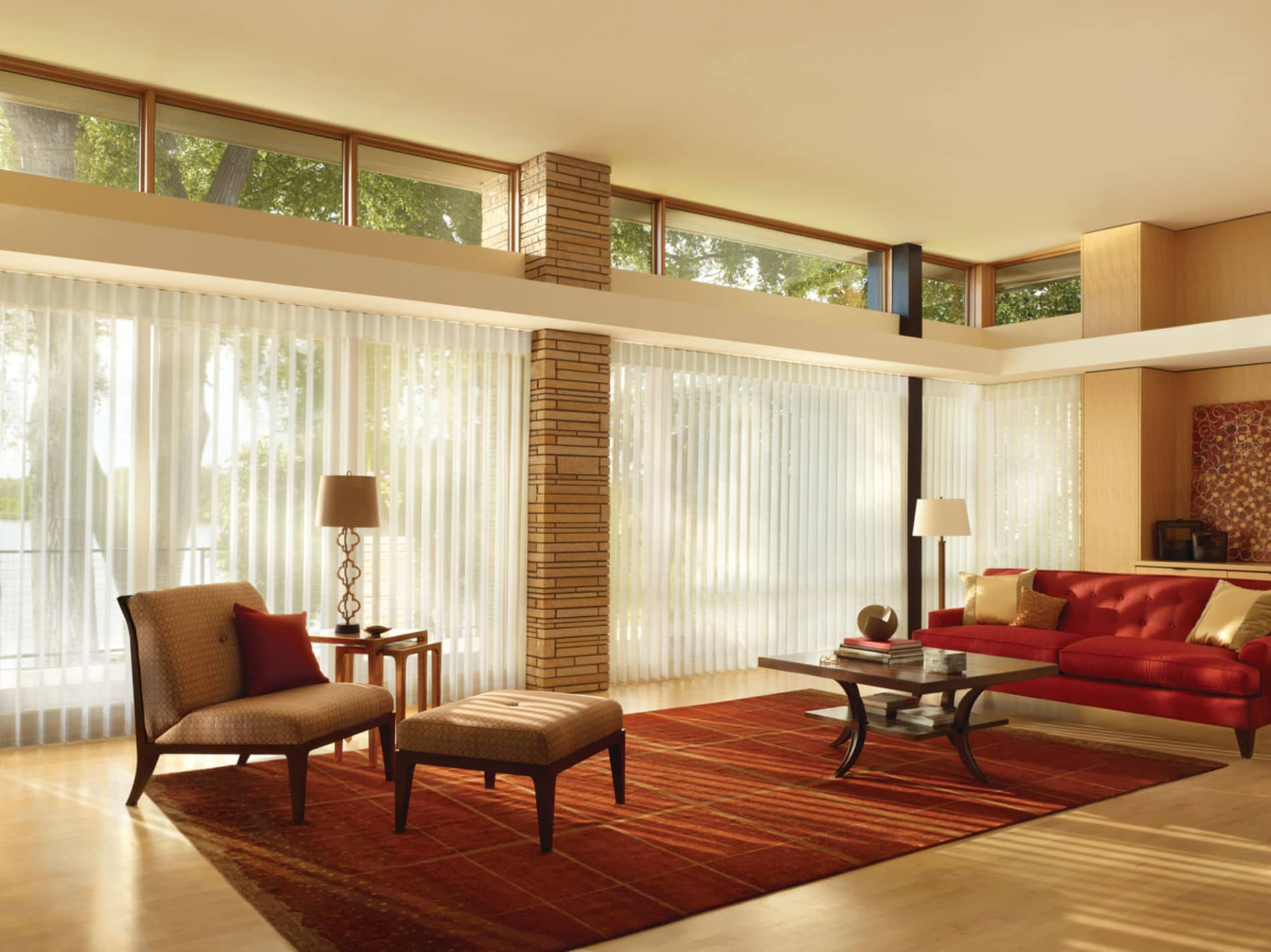 HunterDouglas by Shiretown Home Improvement Luminette Privacy Sheers, Fabric/Material: Stria