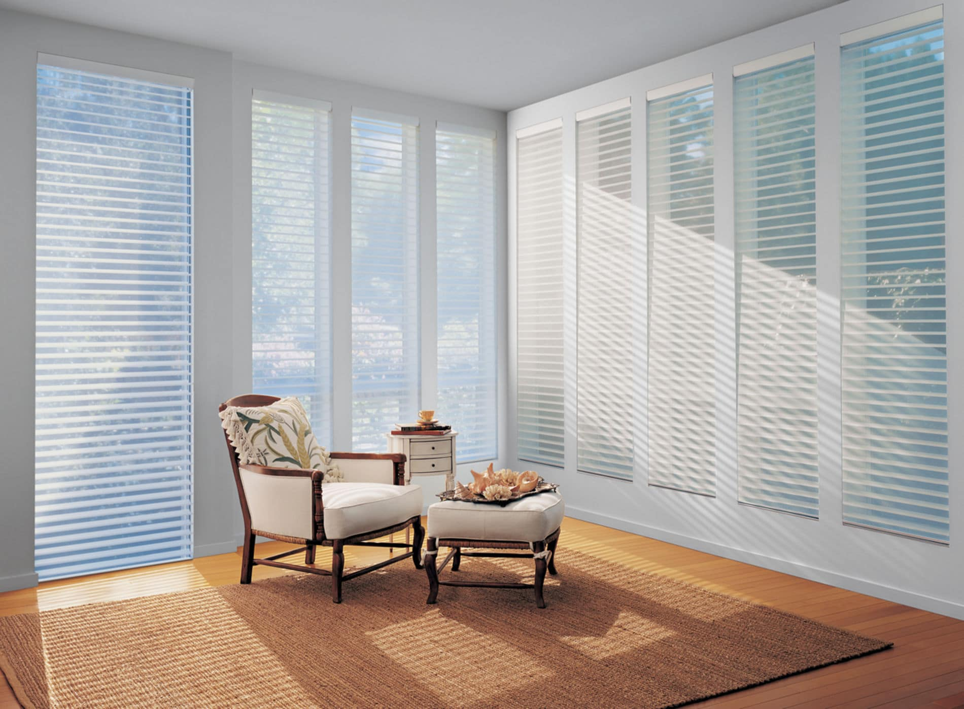 HunterDouglas by Shiretown Home Improvement Nantucket shading, Fabric/Material: Sun Porch