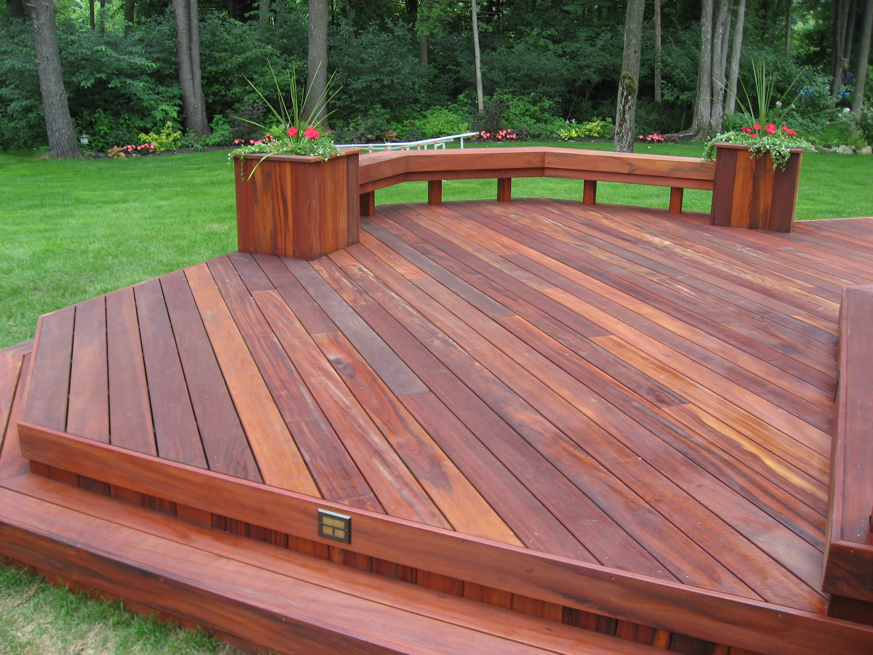 Decks railings shiretown home improvements glass for Best timber for decking