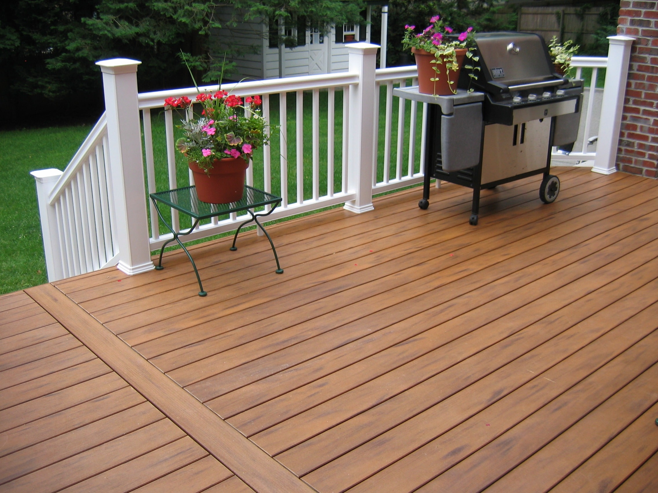 Decks railings shiretown home improvements glass - Deck ideas for home ...
