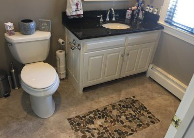 Full Bath Remodel with new Stone Floor