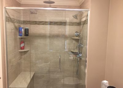 Dual Rain Shower Head Project Gallery  Shiretown Home Improvements Glass