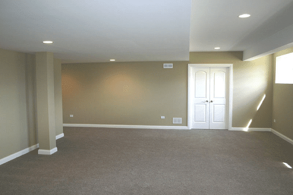 Finished Basement With Carpet Floor Plymouth MA