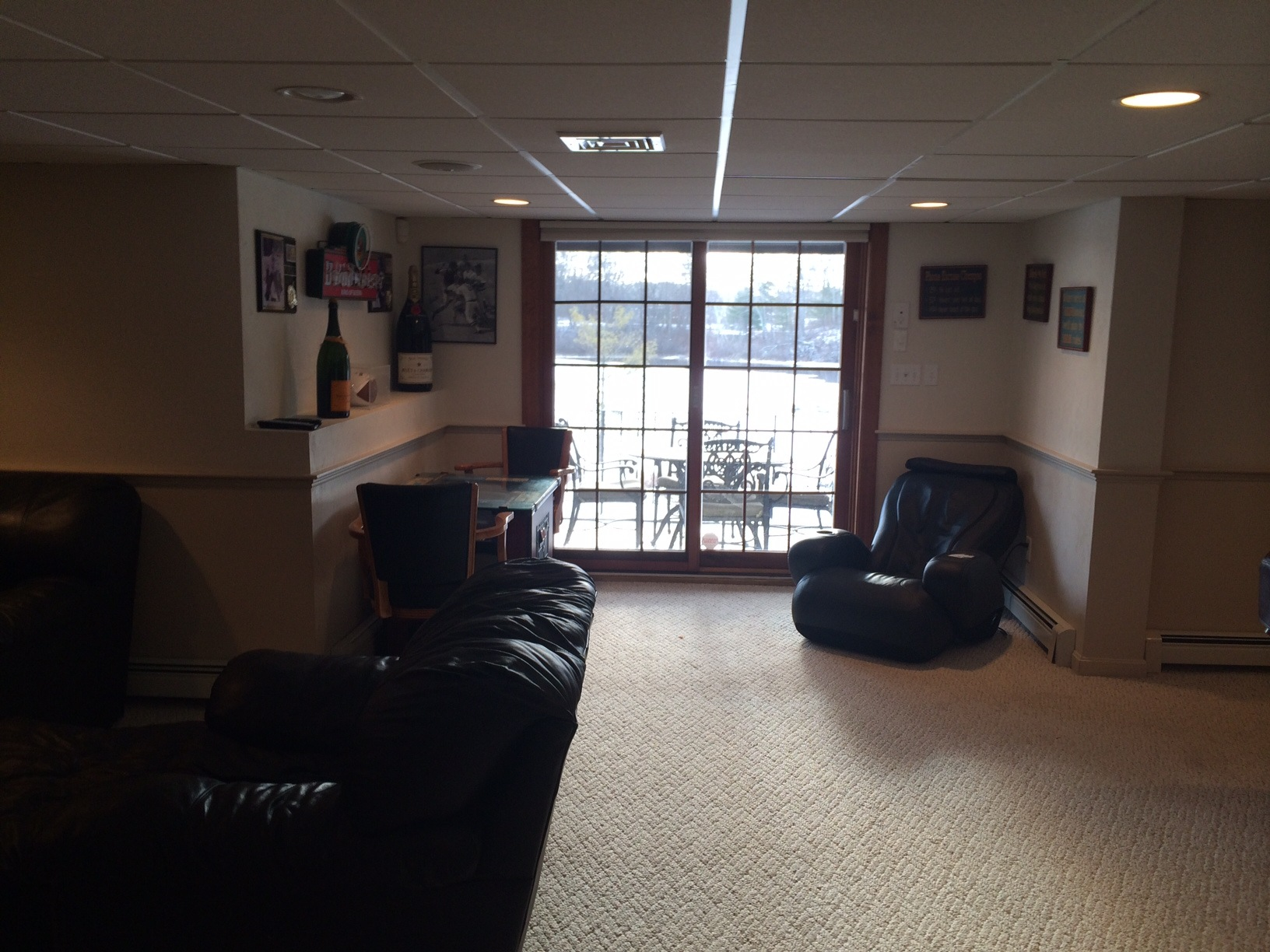Man Cave Living Space Project Plymouth MA