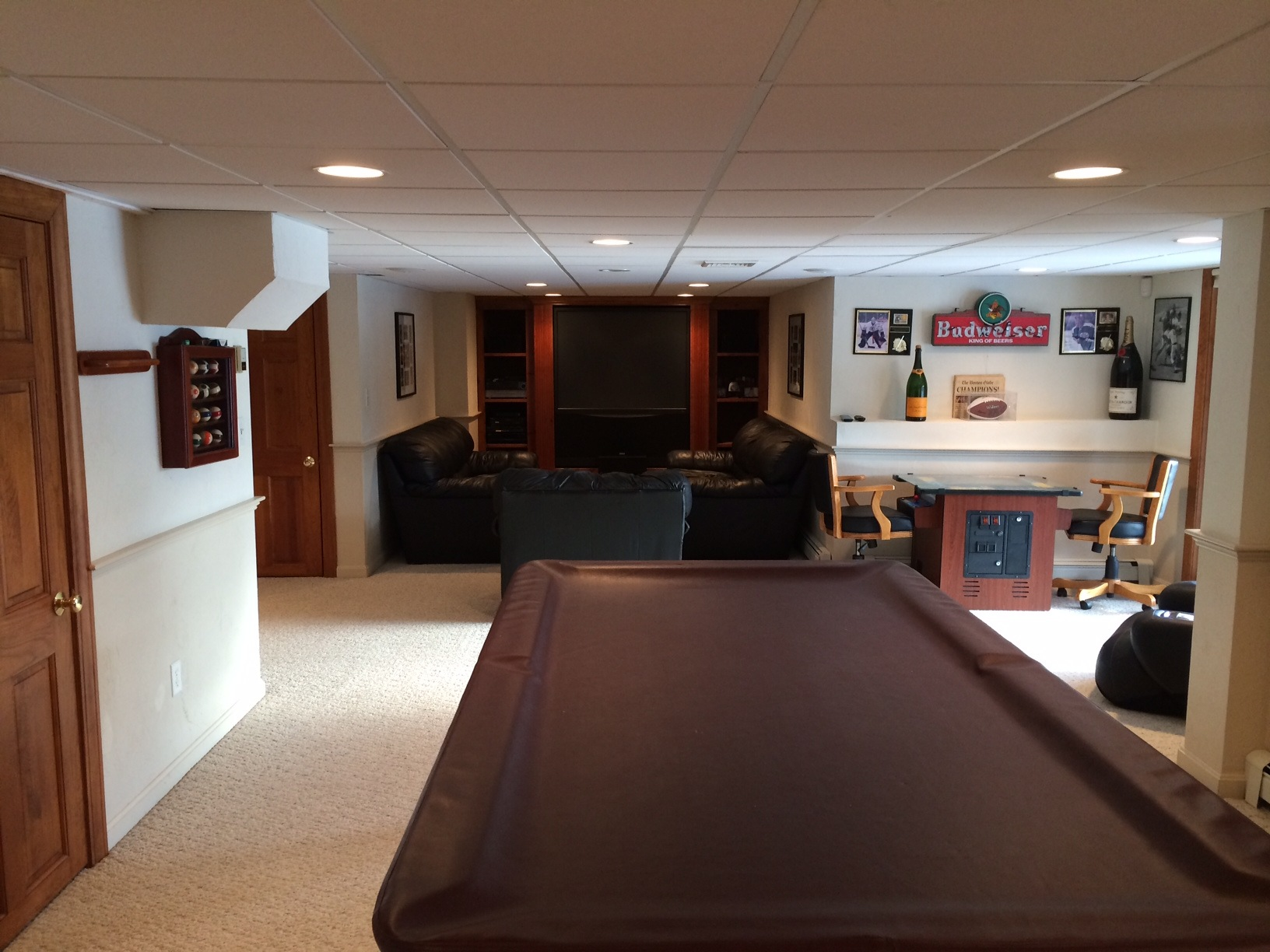 Man Cave With Pool Table Plymouth MA