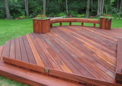 Tigerdek Hardwood Deck Installation In Plymouth
